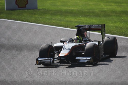 Nick Yelloy in the GP2 Sprint Race at the 2015 Belgium Grand Prix