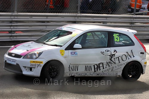 Sikander Hussain in the Fiesta Junior Championship, Brands Hatch, 2015