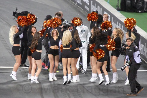 Cheerleaders at The Race of Champions, Olympic Stadium, London, November 2015