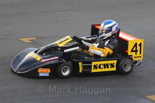 Simon Rushforth in his Spyda FPE in Superkart racing during the BRSCC Winter Raceday, Donington, 7th November 2015