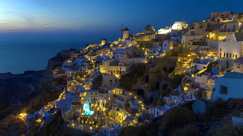 Oia @ night