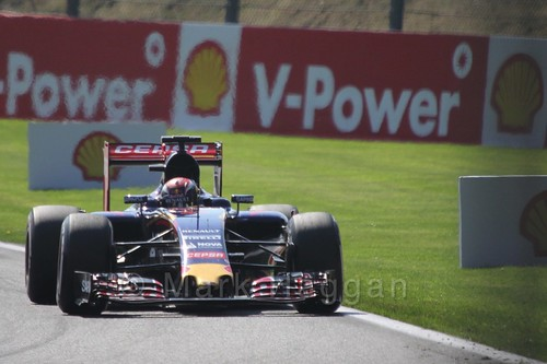Max Verstappen in Free Practice 1 at the 2015 Belgian Grand Prix