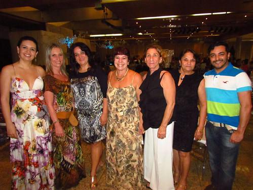 Maria Angélica veio a convite de Milene Coelho e trouxe turma animada