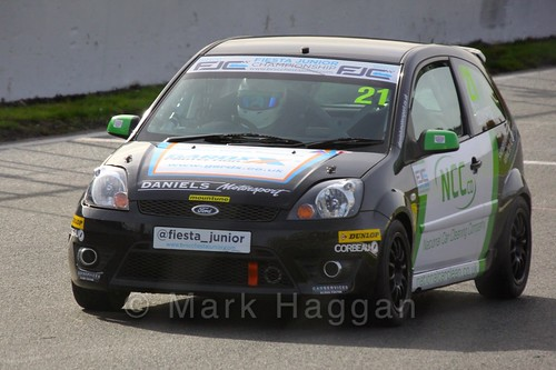 Nathan Edwards in the Fiesta Junior Championship, Brands Hatch, 2015