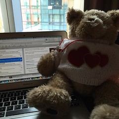 Buddy the business bear is preparing for our #keynote tomorrow. You can learn a valuable lesson to grow ur #smallbiz from this guy.