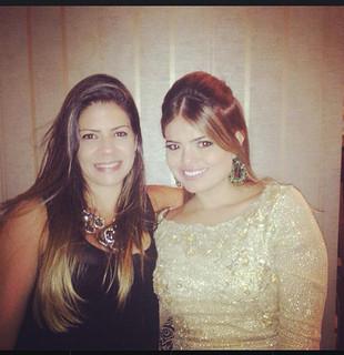 Com a prima Fernanda Franco