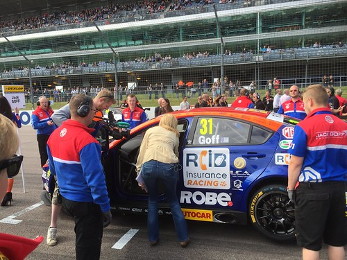 Louise Goodman interviews Jack Goff on the BTCC grid at Rockingham