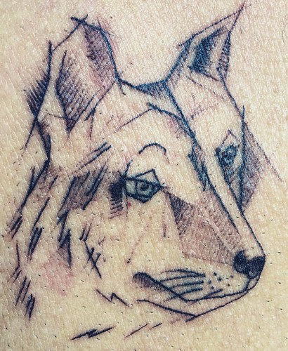 philoup  #loup #tattoo #wolf #dontcry  @ JAH #Tattoo #Pai #Thailand  #thailoup #traveloup
