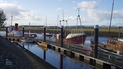 """Tug Garnock, Trawler Antares and  Steam Yacht Carola on the SMM pontoons 2003 • <a style=""""font-size:0.8em;"""" href=""""http://www.flickr.com/photos/46566419@N08/31205474006/"""" target=""""_blank"""">View on Flickr</a>"""