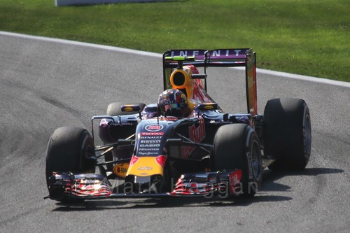 Daniil Kvyat in Free Practice 3 for the 2015 Belgium Grand Prix