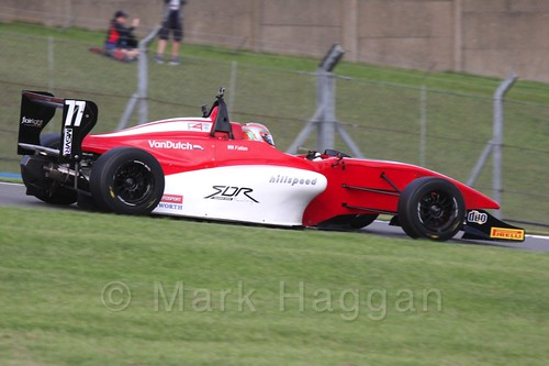 MGR Motorsport's Hernán Fallas in BRDC F4 Race 3 at Donington Park, September 2015