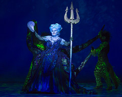 Jennifer Allen as Ursula in Disney's The Little Mermaid presented by Broadway Sacramento at the Community Center Theater Feb. 2-7, 2016.  Photo by Bruce Bennett, courtesy of Theatre Under The Stars.