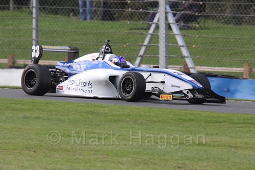 Hari Newey in BRDC F4 Race 3 at Donington Park, September 2015