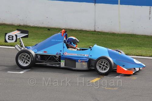 Dan Clowes in Formula Jedi racing at Donington, September 2015