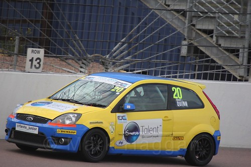 Ronan Quinn in Race 2, Fiesta Junior Championship, Rockingham, Sept 2015