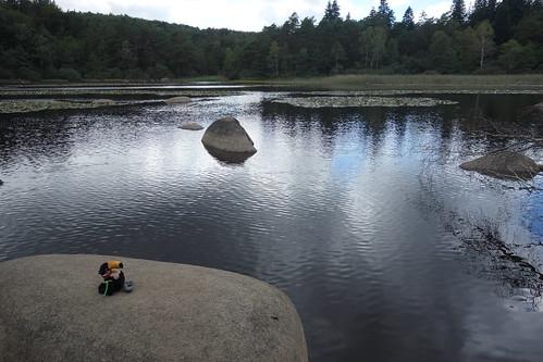 Sur la route, le lac du Merle