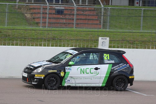 Nathan Edwards in Race 2, Fiesta Junior Championship, Rockingham, Sept 2015