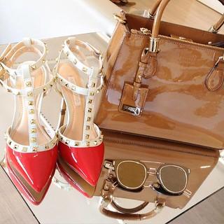 Valentino inspired + óculos poder + bolsa top