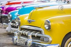 Classic cars around Parque Central in Havana.