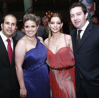 Gustavo de Souza e Fernanda, Maria Clarisse e Juliano Lannes