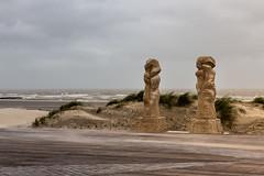Estacade de Nieuport par grand vent