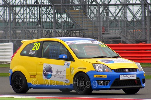 Ronan Quinn in the BRSCC Fiesta Junior Championship at Silverstone, August 2015