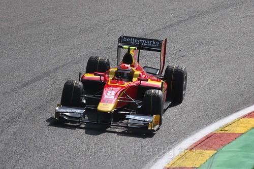 Alexander Rossi in the GP2 Qualifying at the 2015 Belgium Grand Prix