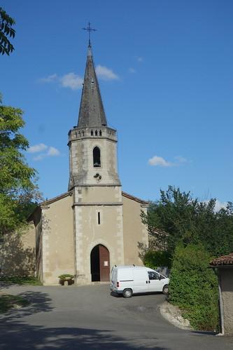 Et voici l'église de Montégut de jour !