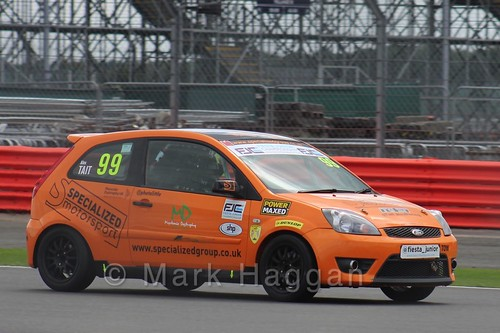 Alex Tait in the BRSCC Fiesta Junior Championship at Silverstone, August 2015