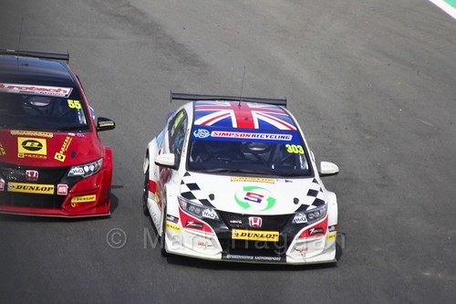Jeff Smith and Matt Simpson during the BTCC Brands Hatch Finale Weekend October 2016