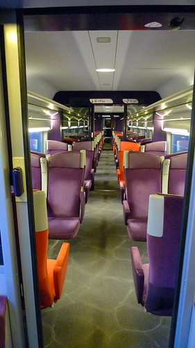 Interior of SNCF high speed rail carriage, Jean-Louis Zimmermann (Creative Commons)