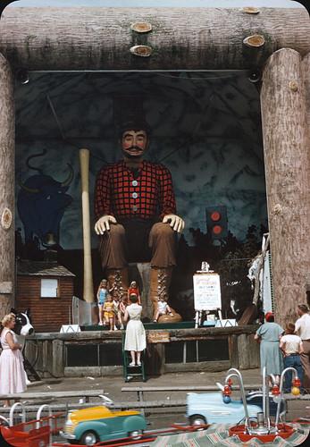 Giant Talking Paul Bunyan - 1956