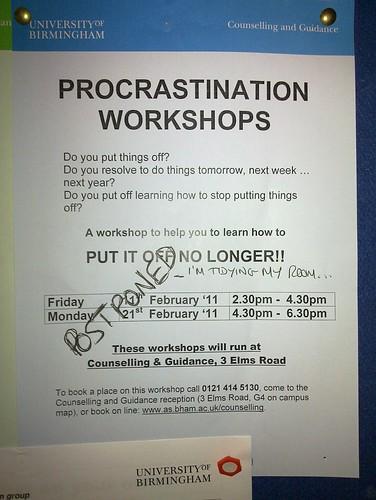 Procrastination workshops