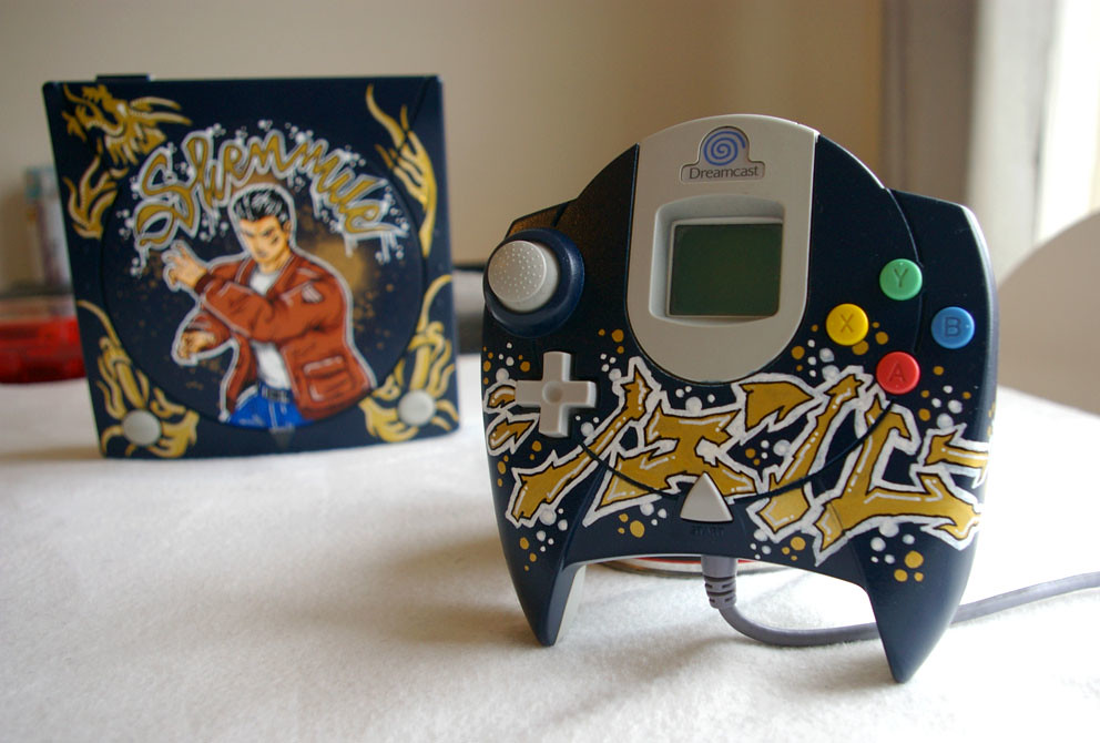 custom painted Dreamcast, Shenmue theme, by OSKUNK! on flickr
