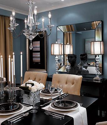 Formal Blue Gray Dining Room Benjamin Moore Cloudy Sky Flickr Photo Sharing