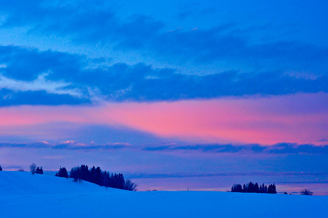 Winter sunset in Sweden