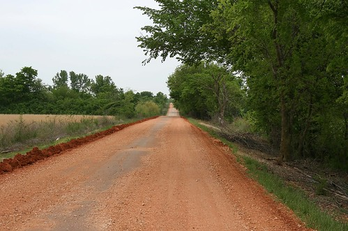 Route 66 in dirt! Oklahoma, USA. Photo copyright Jen Baker/Liberty Images; all rights reserved.