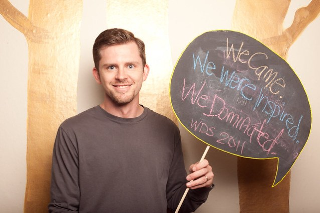 Chris in the photo booth