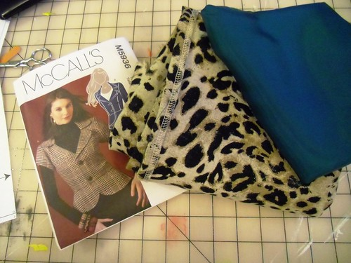leopard & teal jacket