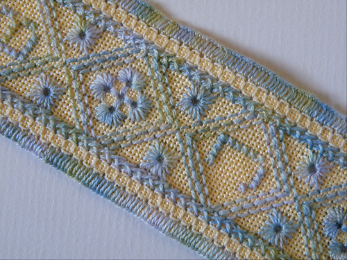 Eyelet band bookmark, detail