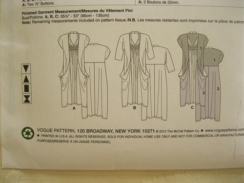 Vogue 8813 line drawings