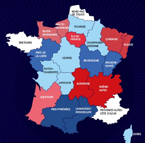 14f03 El nuevo mapa de las regiones de Hollande Carte Regions 1 Uti 465