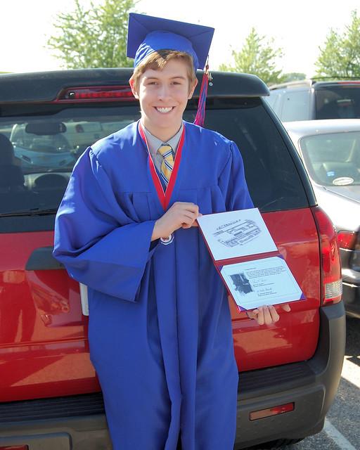 Aaron graduating from Tremper High School Kenosha WI