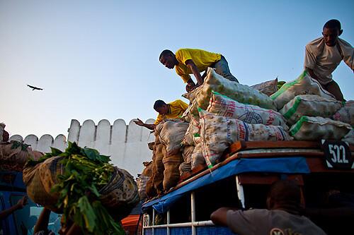 Morning whole sale market in Stone Town, Zanzibar, Tanzania
