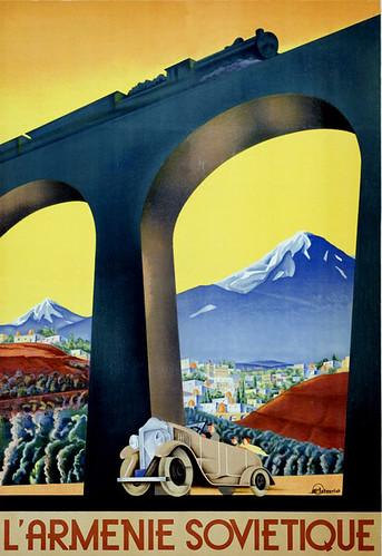 Intourist poster (Yerevan, 1930s)