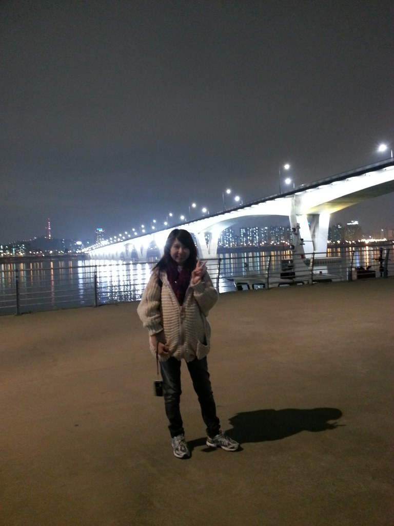 H#hangangriveangang Park, where we almost met DBSK ho-min H#hangangrive#hangangriver #koreatrip #seoul