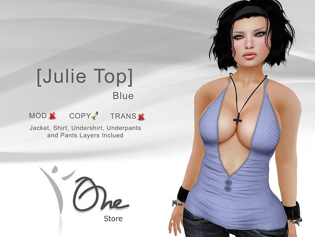 [Julie Top] Blue