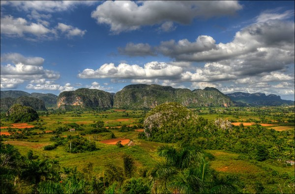 View over the Vinales valley in Cuba