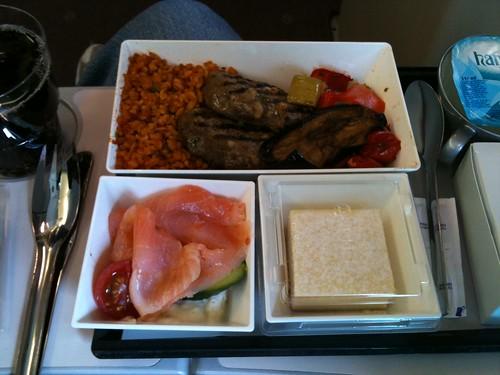 comida en vuelo