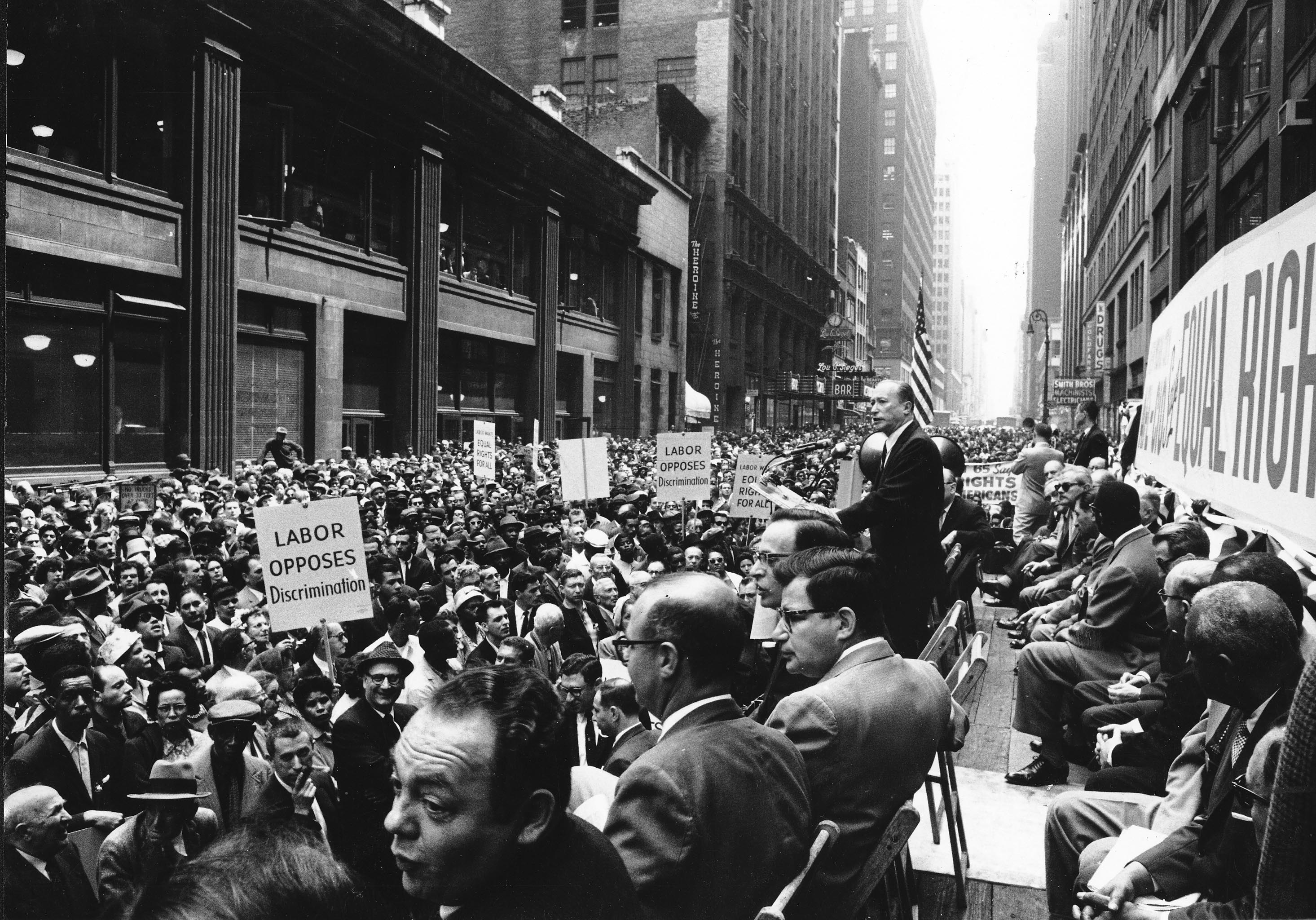 Charles Zimmerman Speaks At A Civil Rights Rally In The